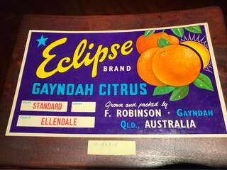 Antique fruit carton label from Australia 3/5