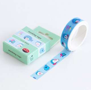 🚚 Jinbeisan Solid Blue Washi Tape #168