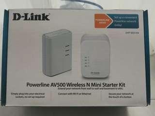 D-Link powerline AV500 wireless N mini starter kit