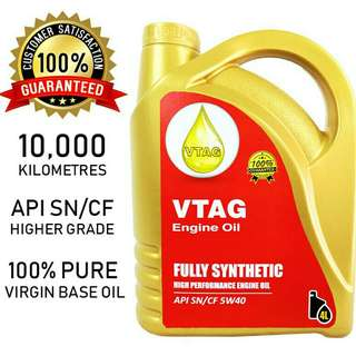 VTAG Fully Synthetic SAE 5W40 Engine Oil - 4 Litres
