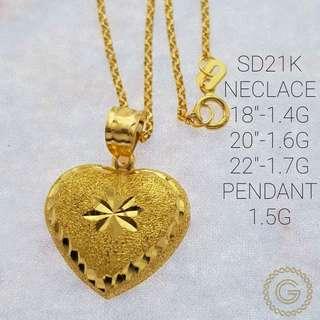 Saudi Gold 21k Necklace