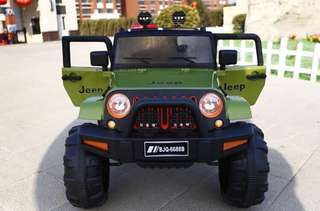 Green Mini Jeep Rechargeable Ride On Truck Car