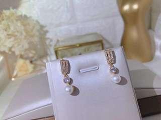 珍珠耳環有盒