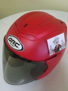 2806*** ARC RITZ Helmet Matt Red V Tinted Visor ¤ 🤣🤣Thanks To All My Buyer Support 👌👌