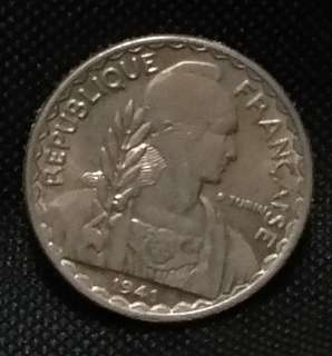 Indo China French 10 cents 1941