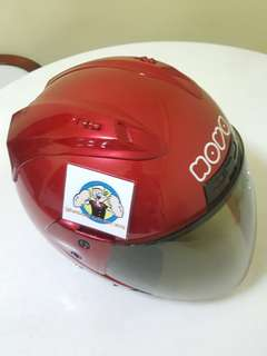 2806*** NOVA Helmet Maroon Red  V Tinted Visor ¤ 🤣🤣Thanks To All My Buyer Support 👌👌