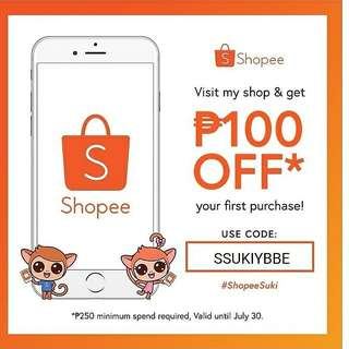 100 OFF in my SHOPEE'S ACCOUNT