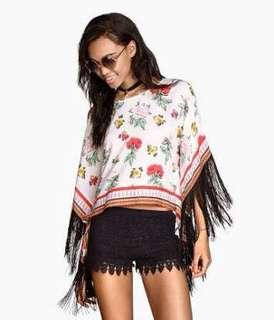 H&M Coachella Tassel Tunic Top