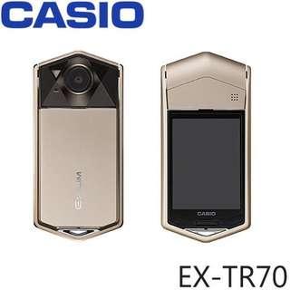 🚚 (二手-9成新)自拍神器 Casio TR70 火彩金(誠可議)