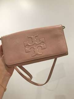 Tory Burch pink mini cross bag