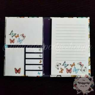 Cute Butterfly Sticky Notes Folder