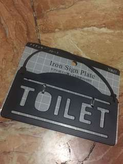 Iron sign plate