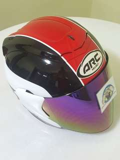 2806*** ARC AR1 TIARA RED with Rainbow visor Helmet For Sale 😁😁Thanks To All My Buyer Support 🐇🐇 Yamaha, Honda, Suzuki