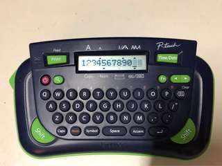 Brother P- touch label printer using M- tape 9/12mm