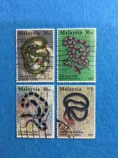 2002 Snake Species in Malaysia 4 Values Used Set