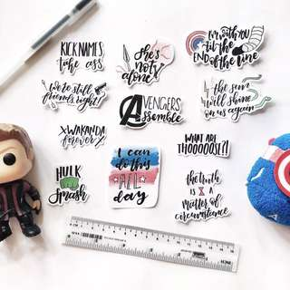 🚚 MCU Quotes Stickers - Bujo & Planner Stickers