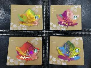 Canadian leaves card set