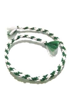 friendship bracelet - green and white