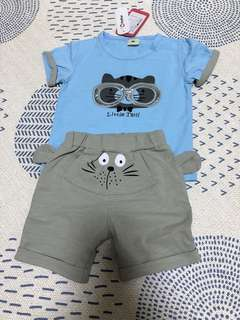 Tee and shorts for toddler boy