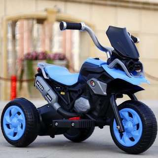 Blue 6699 Rechargeable Motorcycle Ride On Scooter Big Bike