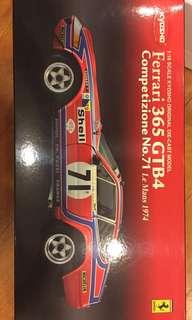 Kyosho 1/18: Ferrari 365 GTB4 Competizione No. 71 Le Mans 1974
