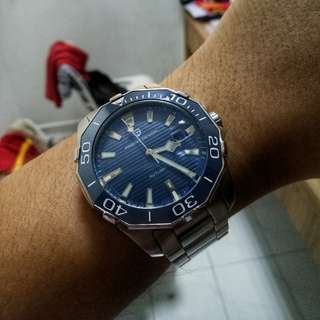 Modded aquaracer homage automatic watch