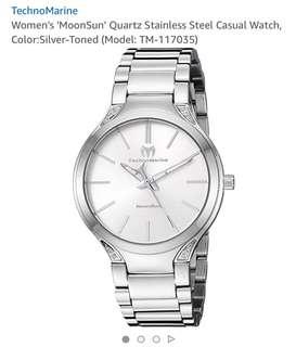 Women's MoonSun Quartz Stainless Steel Casual Watch