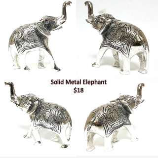 solid metal Elephant