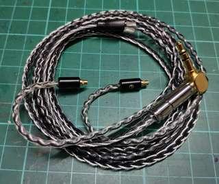 8絞7N單晶銅鍍銀金屬MMCX 耳機升級線 Fender專用
