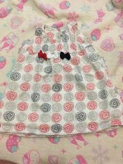 Doodle Dress w/ ribbon