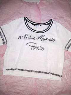 🌻 White Crop Top / Shirt