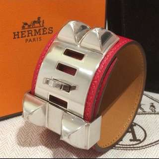 全新 愛馬仕cdc 手鐲 Hermes Epsom Red Rouge New.