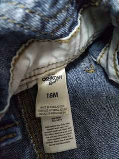 Pre-love Oshkosh overall made in Bangladesh