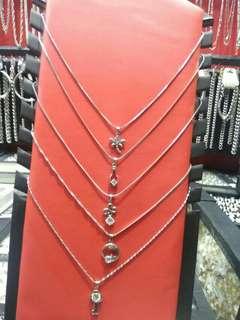 Kalung nama & liontin - bahan titanium - gabakal karatan, item, merah - liontin nama tebel harga mulai 65k - 85k