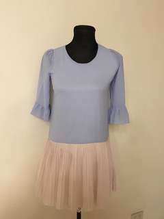 Korean light blue dress