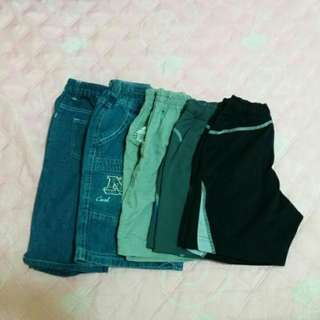 童裝 95-120cm 短褲5件合售