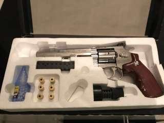 全新 II  WG 6吋 CO2 702 全金屬 左輪手槍 6MM 銀色版 出速約 160