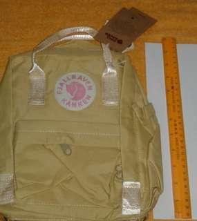 Kanken small beige backpack