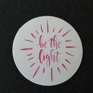 C11 Be The Light Calligraphy Sticker Stickers