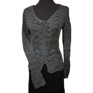 FRANCOIS DIDIE ITALY CROCHET KNIT PULLOVER