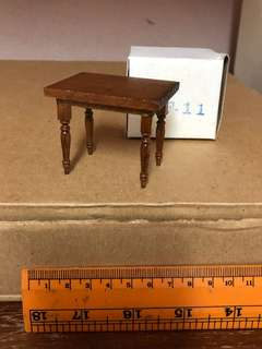 Miniature wood small size table
