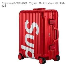 SUPREME /RIMOWA TOPAS MULTIWHEEL 45L (RED)