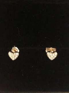 Just Gold 18k 鑽石耳環 0.1 卡 玫瑰金