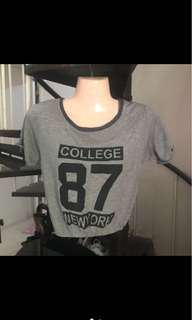 Crop top blouse for small sizes