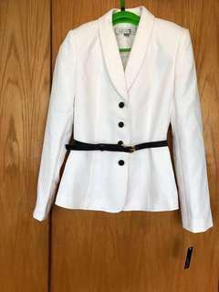 (全新)Tahari by ASL white jacket / coat 白色外套