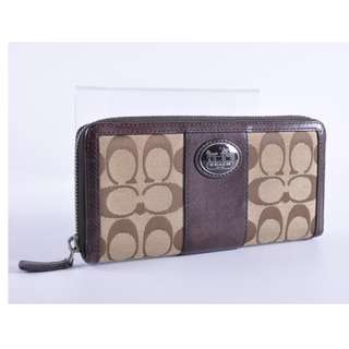 AUTHENTIC COACH LONG ZIPPY WALLET