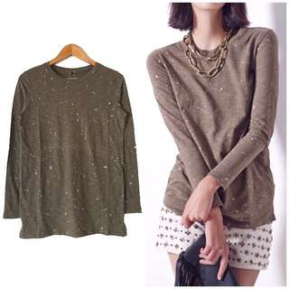 Studded Longline Pullover - Large