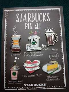 Starbucks Macau 15th anniversary pin set