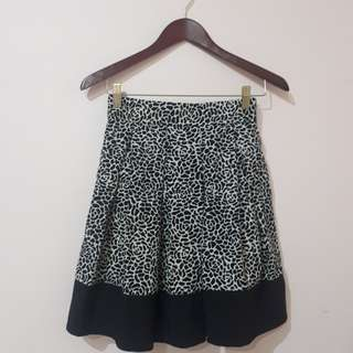 Black White Rose Skirt