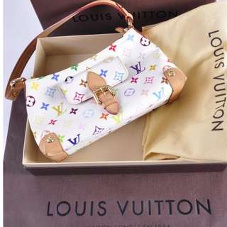 AUTHENTIC Louis Vuitton White Multicolor Eliza